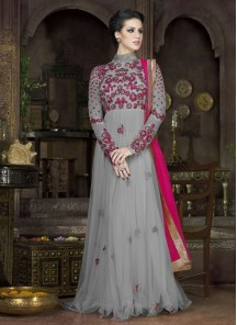 Remarkable Georgette Embroidered Anarkali Suit