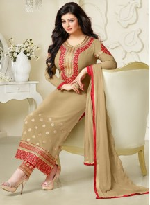 Remarkable Susmita Sen Georgette Churidar Suit