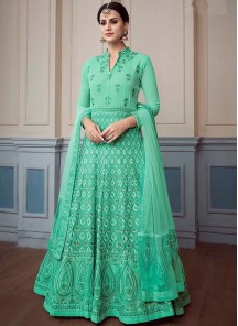 Renowned Georgette Wedding Floor Length Anarkali Suit