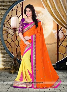 Royal Patch Border Work Designer Saree
