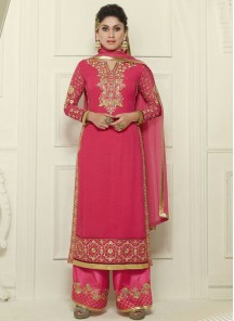 pink straight Salwar suit