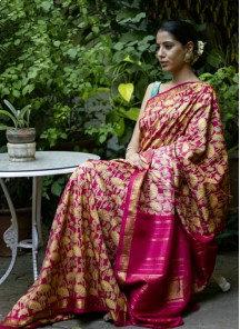 Satin Silk Digital Print Multi Wedding Saree