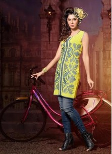 Sophisticated Embroidered Work Party Wear Kurti