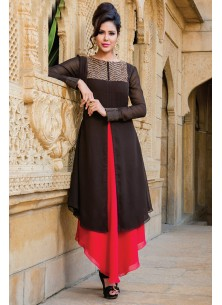 Specialised Black and red Designer trendy Suit