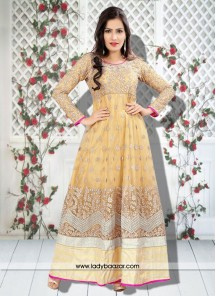 Splendid Yellow Anarkali Suit