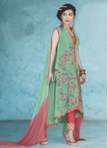 Adorable georgette Straight Suit