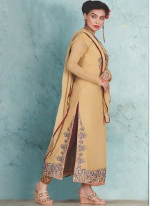 Desiener georgette Emroidered work Straight Suit