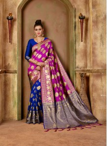 Stunning Banarasi Silk Weaving Designer Traditional Saree