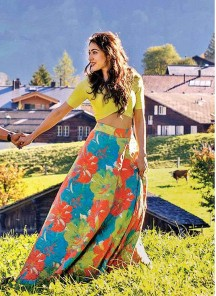 Stunning Digital Printed Multi Colour Classic Semi-Stitched Lahenga Choli