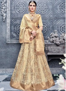 Stylish Banarsi Silk AnarkaliLehenga Choli