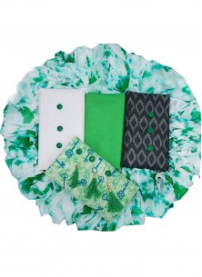 Stylish Designer Suit Printed Cambric Cotton In Green