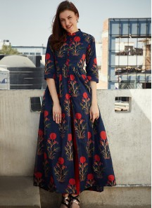 Stylish Front Cut-out Designer Wear Long Gown Style kurta