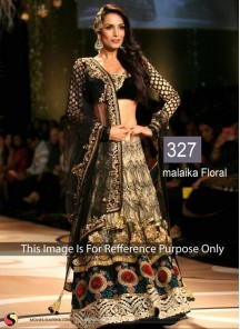 Stylish Raw Silk Black AnarkaliLehenga Choli