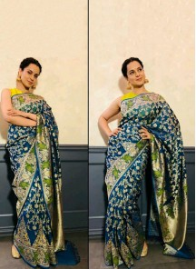 Sunshine Satin Silk Multi Abstract Digital Print Traditional Saree