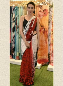 Tantalizing Digital Print Silk Multi Traditional Saree