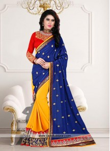 Tantalizing Embroidered Work Designer Saree