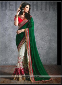 Tantalizing thread Work Designer Saree