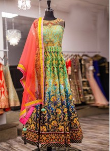 Tissue Embroidered Anarkali Lehenga