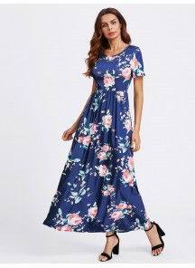 Topnotch Blue Cotton Twill Western Gown