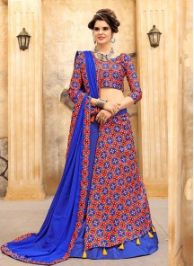 Topnotch Multi Color Print Work Lehenga Choli