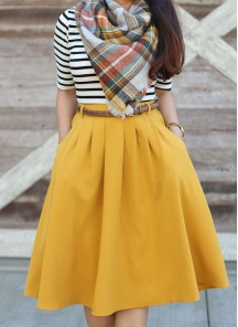 Unique Printed Reyon Yellow With White Western Wear