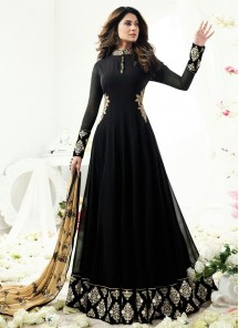 Winget Black Georgette Anarkali suit