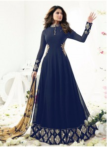 Winget Blue Georgette Anarkali Suit
