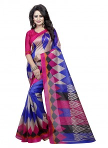 Zesty Bhagalpuri Silk Casual Saree