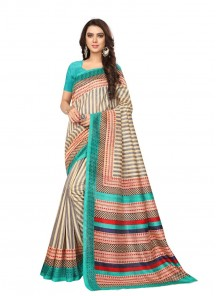 Zesty Bhagalpuri Silk Printed Casual Saree