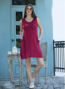 Zesty Maroon Reyon Lycra Sleeveless Western Wear